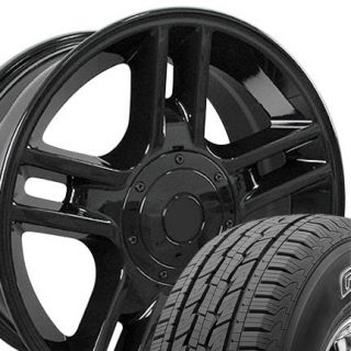 20x9 Black F150 Harley Wheels Rims 275 45 General Grabber HTS Tires