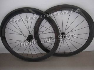 50mm Clincher Carbon Wheels with Light Weight Novatec Hub A291SB