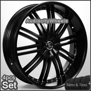 22inch Wheels and Tires Black RIMS300C Magnum Charger