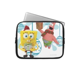 SpongeBob and Patrick with ornaments Laptop Sleeve