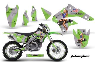 AMR Racing Dirt Bike Background Number Plate Graphics Kawasaki KLX 450