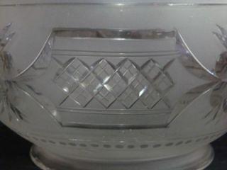 Antique Cut Satin Glass Ball Globe Gas Lamp Shade