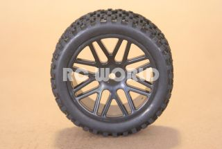 RC 1 10 Buggy Rims Tires Wheels Kyosho Tamiya Narrow Block