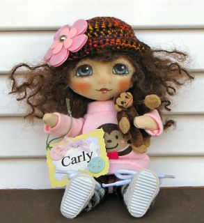 OOAK Companion Doll for 16 18 BJD Dolls Kaye Wiggs Layla Ellowyne