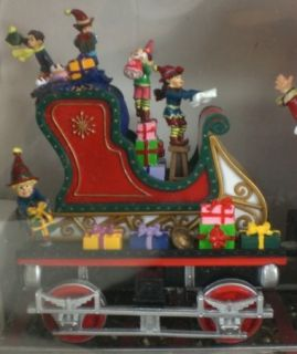 Mr. Christmas SANTAS EXPRESS Animated Musical Train   20 Songs   Real