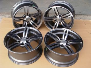 18 BMW M6 Replica Rims 7 Series 740 745 750 760 Gun Metal Wheels New