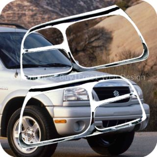 Escudo Chrome Head Light Trim Front Lamp Rim Cover Overlays