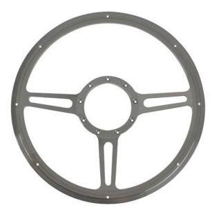 New Billet Specialties Split Spoke 14 Steering Wheel w Finger Notches
