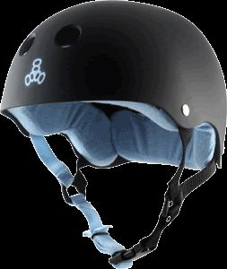 Triple Eight Brainsaver Black w Carolina Blue Liner Sweatsaver Choose