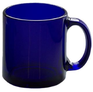 Libbey Robusta Cobalt Blue Glass Mug 13oz 4 PC New