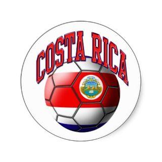 Costa Rica Soccer Ball Sticker