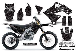 AMR Racing Dirt Bike Number Plate Decal Sticker Wrap Kawasaki KXF 250