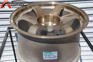 17x9 Rota Grid 4x114 3 12 Full Royal Sport Bronze Wheel Fits 240Z