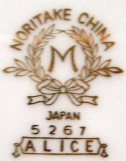 Noritake China Alice 5267 Pattern Large Oval Platter