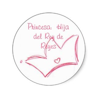 Princesa Hija del Rey de Reyes Sticker