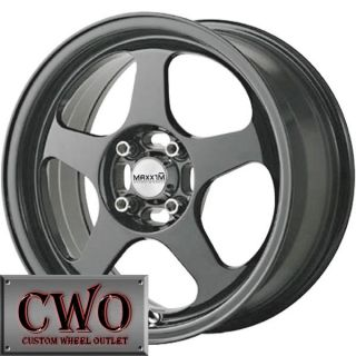 15 Gunmetal Maxxim Air Wheels Rims 4x100 4 Lug Civic Mini G5 Cobalt XB