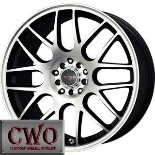 18 Black Drag Dr 34 Wheels Rims 5x110 5 Lug Malibu HHR G6 G5 Cobalt