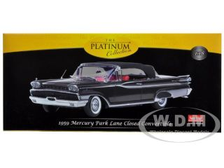 1959 Mercury Parklane Convertible Black 1 18 Diecast Car Model Sunstar