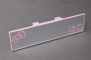 Universal Hello Kitty 270mm Wide Rear View Flat Mirror New JDM Style