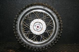 Honda CRF70 Rear Wheel Hub Rim Spokes