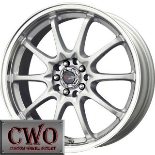 16 Silver Drag Dr 9 Wheels Rim 5x100 5x114 3 5 Lug Eclipse Jetta Golf