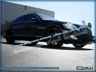 22 inch Mercedes Benz Black Wheels Rims ire Package S550 CL550 550