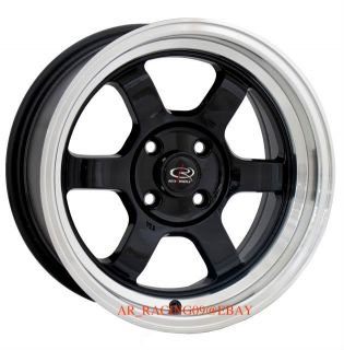 15 Rota Grid V 15x8 Black Civic Integra Del Sol CRX
