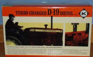 Ertl Allis Chalmers D 19 Highly Detailed Tractor 1 16 New