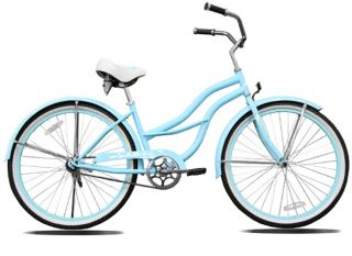 New 26 Beach Cruiser Bicycle Lady Light Blue