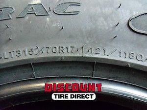 Used 315 70 17 Goodyear Wrangler Duratrac Tires 70R R17