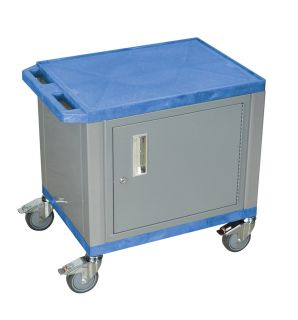 Wilson Tuffy Cart Stainless Steel Casters and Locking Cabinet Blue