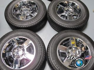 Silverado Tahoe Avalanche Factory 18 Chrome Wheels Tires Rims