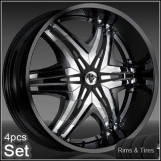 22 Diablo Wheels and Tires for Chevy Ford Dodge RAM Rim Tahoe F150