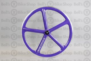 Aerospoke Track Front Wheel Purple Special Machined 700c