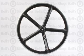 Aerospoke Road Rear Bike Wheel Natural Carbon Black