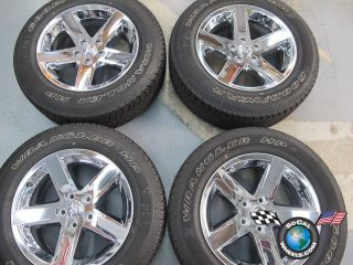 RAM 1500 Factory Chrome Clad 20 Wheels Tires Rims Durango 2364