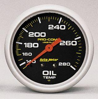 Autometer Pro Comp Mechanical Oil Temperature Gauge 2 5 8 Dia Black