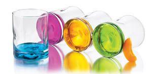 Libbey Impressions Color Base Rock Glasses 12oz 4pc