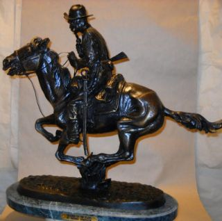 Signed Trooper of The Plains Frederic Remington Bronze