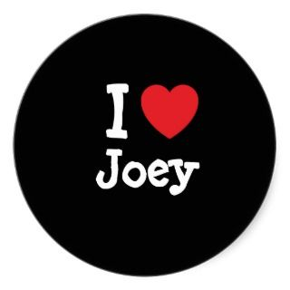 love Joey heart T Shirt Round Stickers