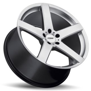 20 TSW Rivage Wheels Silver BMW 3 5 6 7 Series 328 335 528 535 550