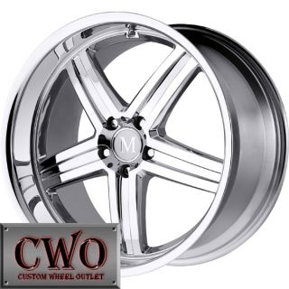 18 Chrome Mandrus Mannheim Wheels Rims 5x112 5 Lug Audi A4 A6 Mercedes