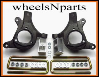 99   02 CHEVY SILVERADO 1500 LIFT KIT 3 Front Lift Spindles 2 Rear