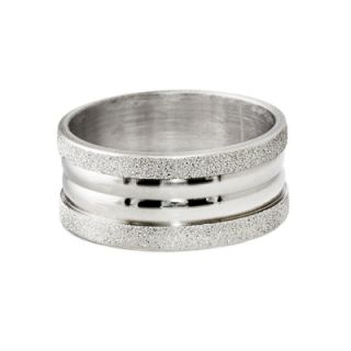 Mens Stainless Steel Rings w Sandblast Finish in Size 9 10 11 or 12