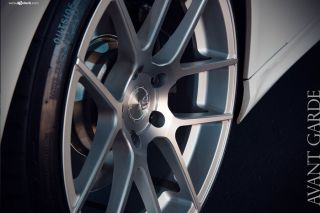 350Z Avant Garde M510 Concave Silver Staggered Wheels Rims