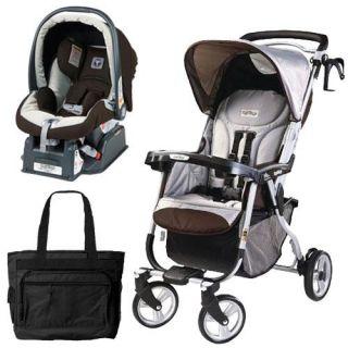Peg Perego Vela Easy Drive Stroller Java Travel System 888487010572