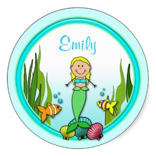 Personalized Mermaid Fun Stickers