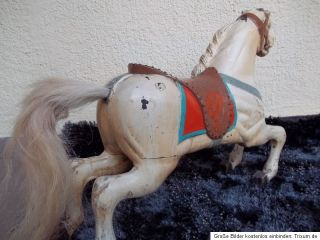 Antique Carousel Horse Wooden Horse 1920s Germany Cirmes Jumper