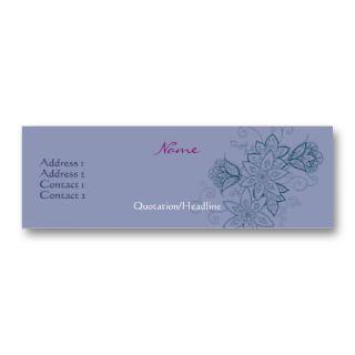 Tulip Tattoo Slim Profile Cards (Dusk) Business Cards