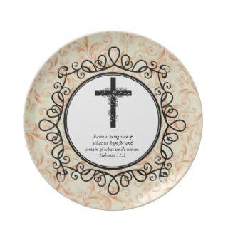 Hebrews 111 Bible Verses Decorative Plates